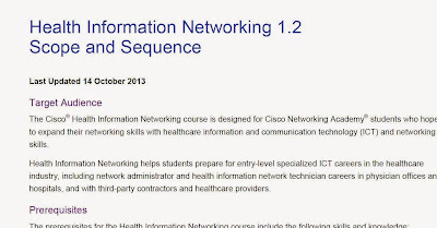 Health Information Networking 1.2 Scope and Sequence