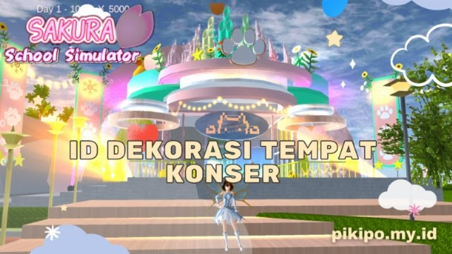 ID Dekorasi Tempat Konser Di Sakura School Simulator