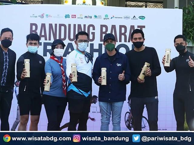 Sejumlah Selebritas dan Pejabat Ikut Berpartisipasi di Bandung Barat Triathlon 2021