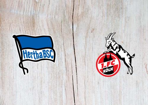 Hertha BSC vs Köln -Highlights 22 February 2020
