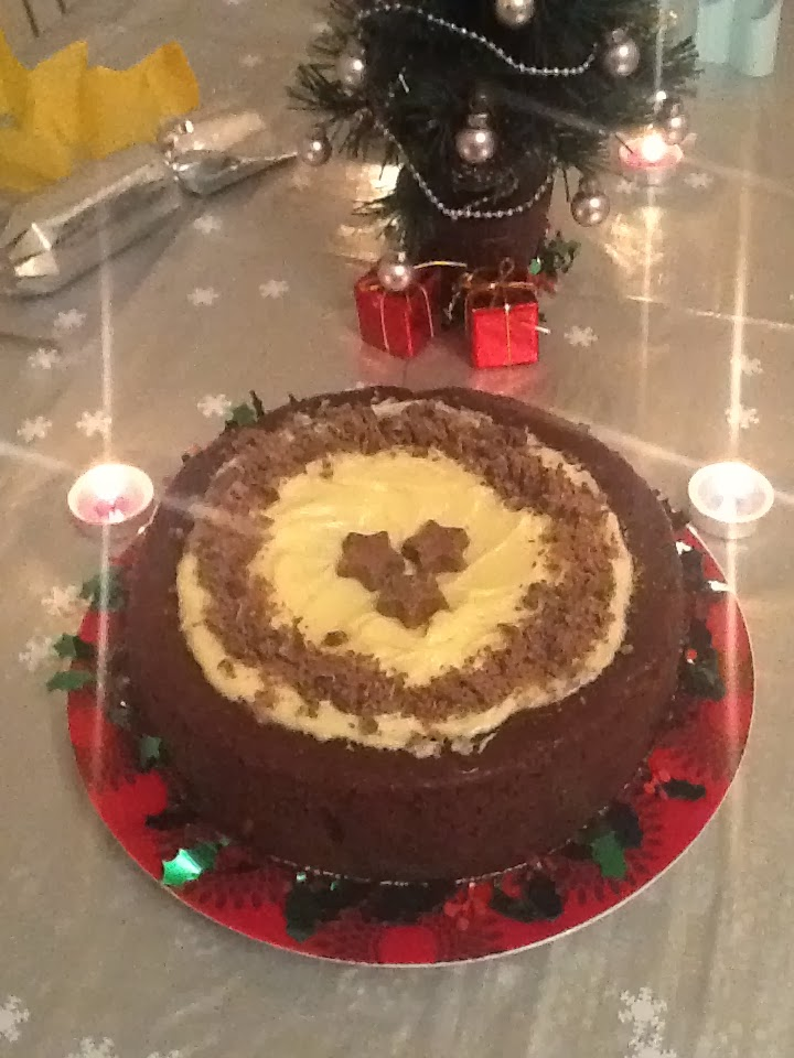 Alternative Christmas Cake.Chocolate Fruit Cake