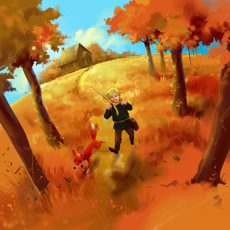 kids picture book illustration digital painting