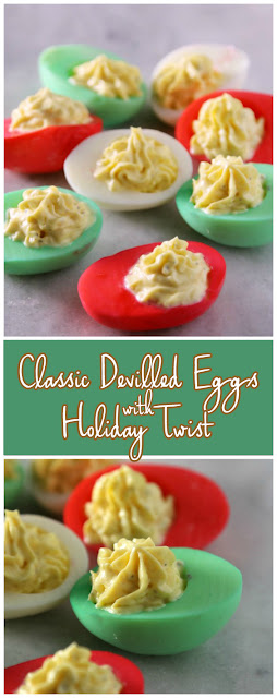 Delicious Classic Devilled #Eggs Recipe With a Holiday Twist #Recipe #easyrecipe