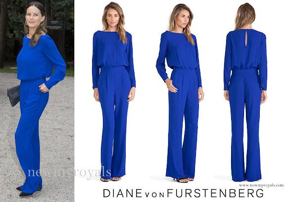 Princess Sofia wore a Diane Von Furstenberg Cynthia Jumpsuit