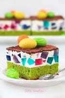 zielone ciasto z galaretką