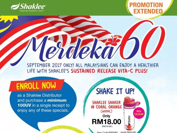Promosi MERDEKA 60 Diteruskan Sampai 30 September 2017
