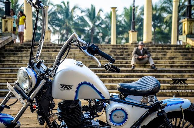 softtail bobber maratha motorcycles, custom bajaj avenger