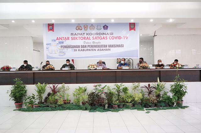 Ketua GTP2 Covid-19 Kabupaten Asahan Memimpin Rapat Koordinasi Antar Sektoral Satgas Covid-19