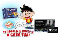 Logo Concorso ''Golosino Negroni ti regala il cinema a casa tua'': 78 Gift Card CHILI da 60 euro