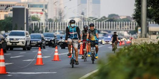 Dishut Jakarta Bangun Jalur Sepeda Permanen di Ruas Jalan Sudirman-MH Thamrin