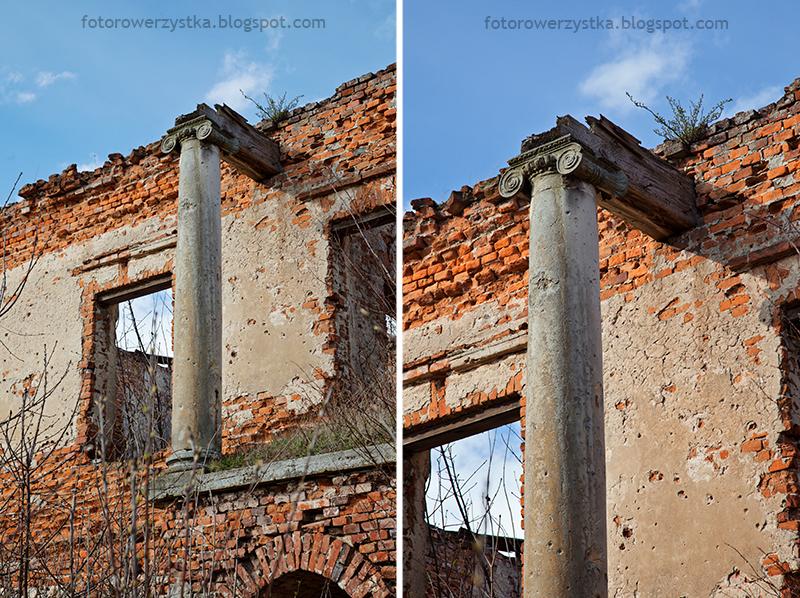 Pałac Karskich, Włostów, pałac, ruiny, oficyna