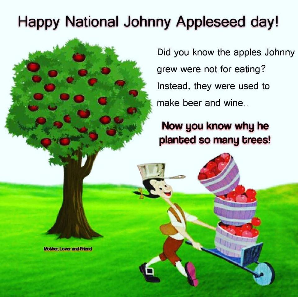 Johnny Appleseed Day Wishes Images download