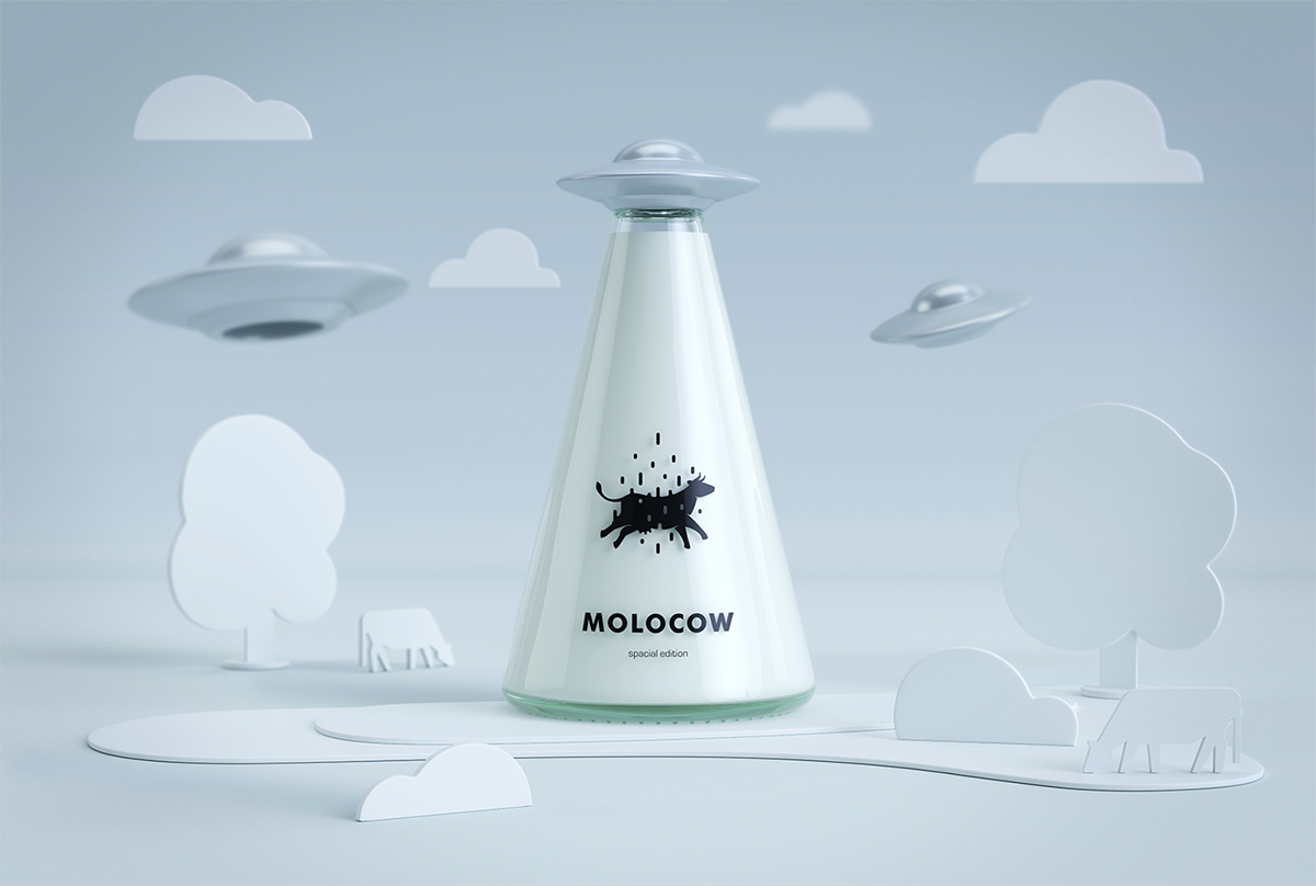 Molocow Concept Milk Package Concept On Packaging Of The