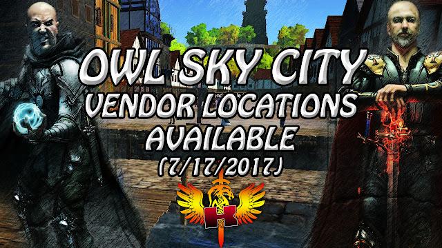 Owl Sky City, Vendor Locations Available (7/17/2017)