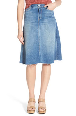 Mother Fray denim circle skirt, $332.31 from Nordstrom