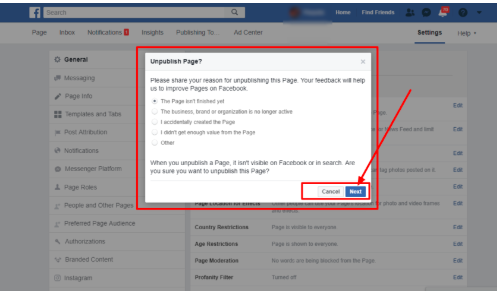 How Do I Make My Facebook Page Private<br/>