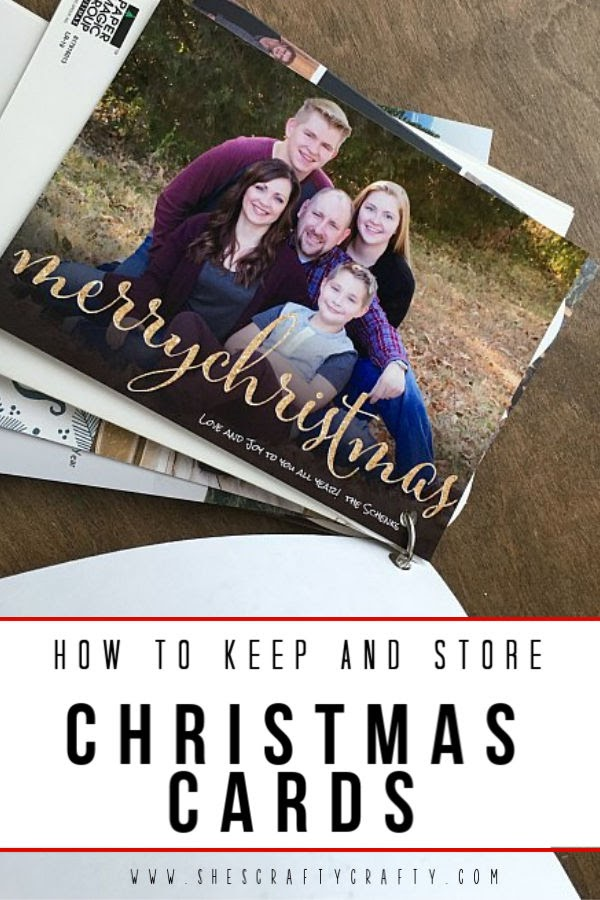 What to do with Christmas Cards?  how to keep and store Christmas cards from year to year    She's Crafty