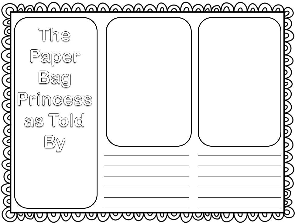 paper bag princess characters coloring pages | Booking Across Canada - The Paper Bag Princess ...