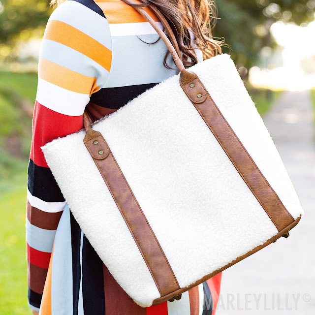 fuzzy purse
