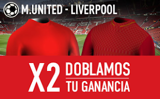 Promocion sportium dobla ganancias Man. United vs Liverpool 15 enero