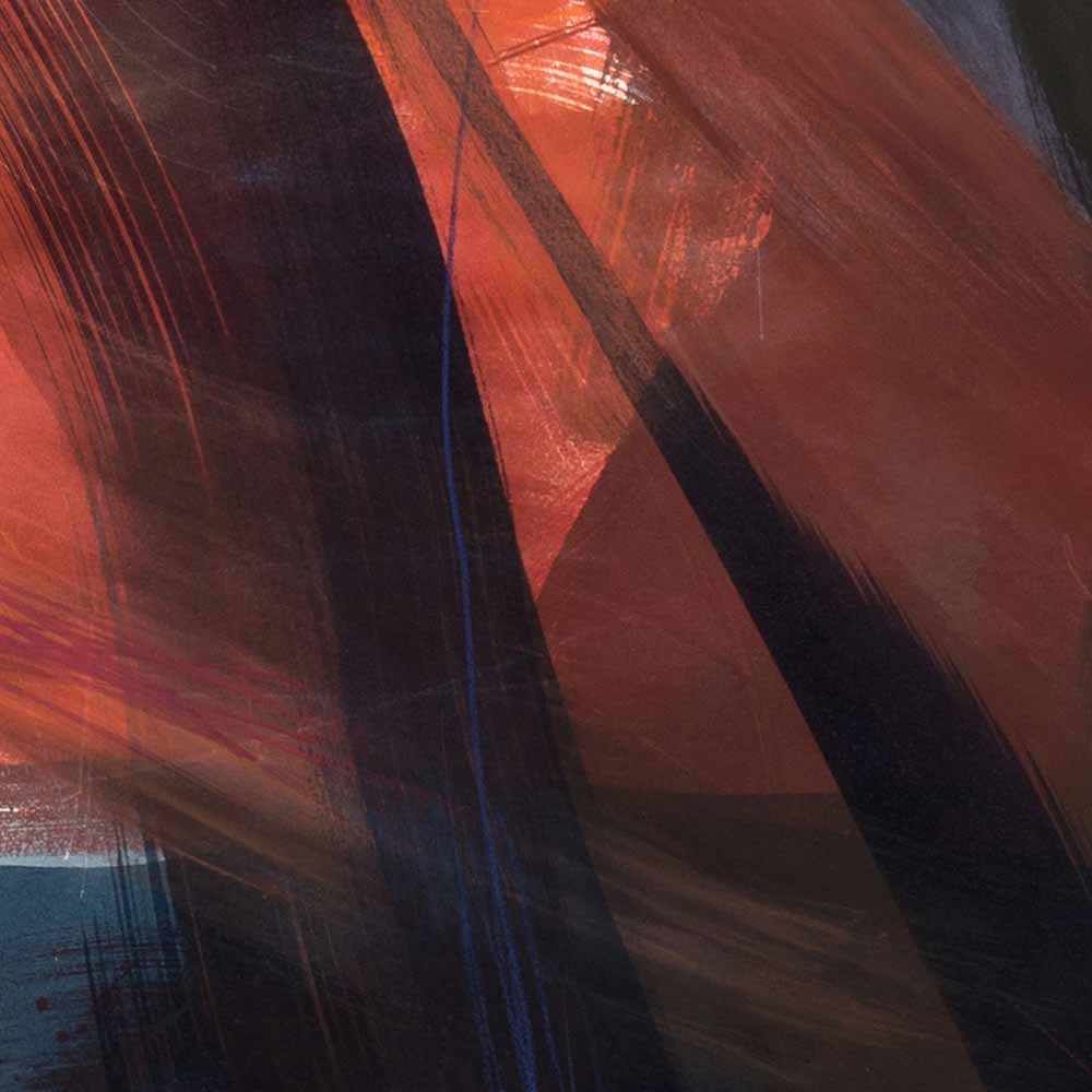 Aquarelle détail 8, 110 x 144 cm, mai 19 © Annik Reymond