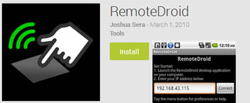 RemoteDroid Remote PC Android app
