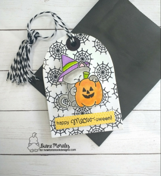Happy meow-oween by Diane features Newton's Perfect Pumpkin by Newton's Nook Designs; #newtonsnook