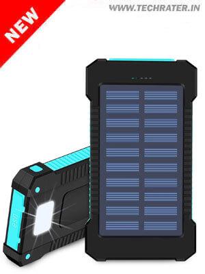 Solar Powered USB Power Bank - Portable