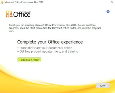 instal ms office 2010 gratis selesai