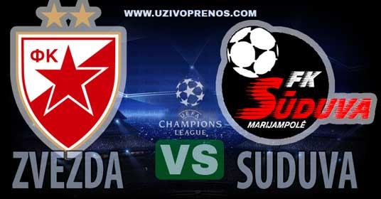 Liga šampiona: Crvena zvezda - Suduva uživo prenos
