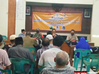 Babinsa Hadiri Sosialisasi Dan Pembentukan Pos PPKM Desa Wonorejo