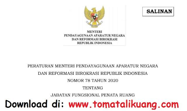 permenpan rb nomor 78 tahun 2020 tentang jabatan fungsional penata ruang pdf tomatalikuang.com