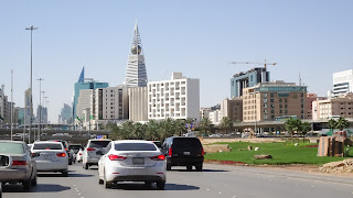 At the end of the upscale shopping strip in Riyadh