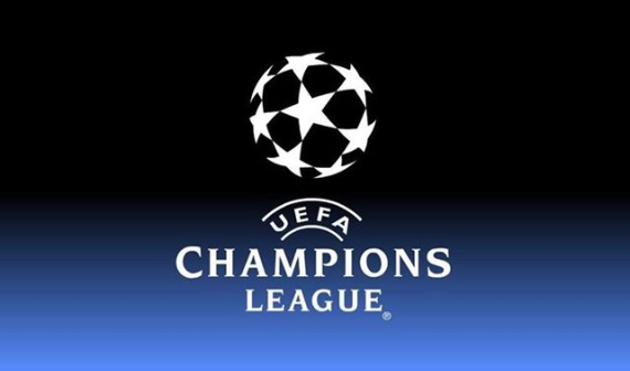 Champions League logo, Manchester City v Real Madrid first leg semi-final.