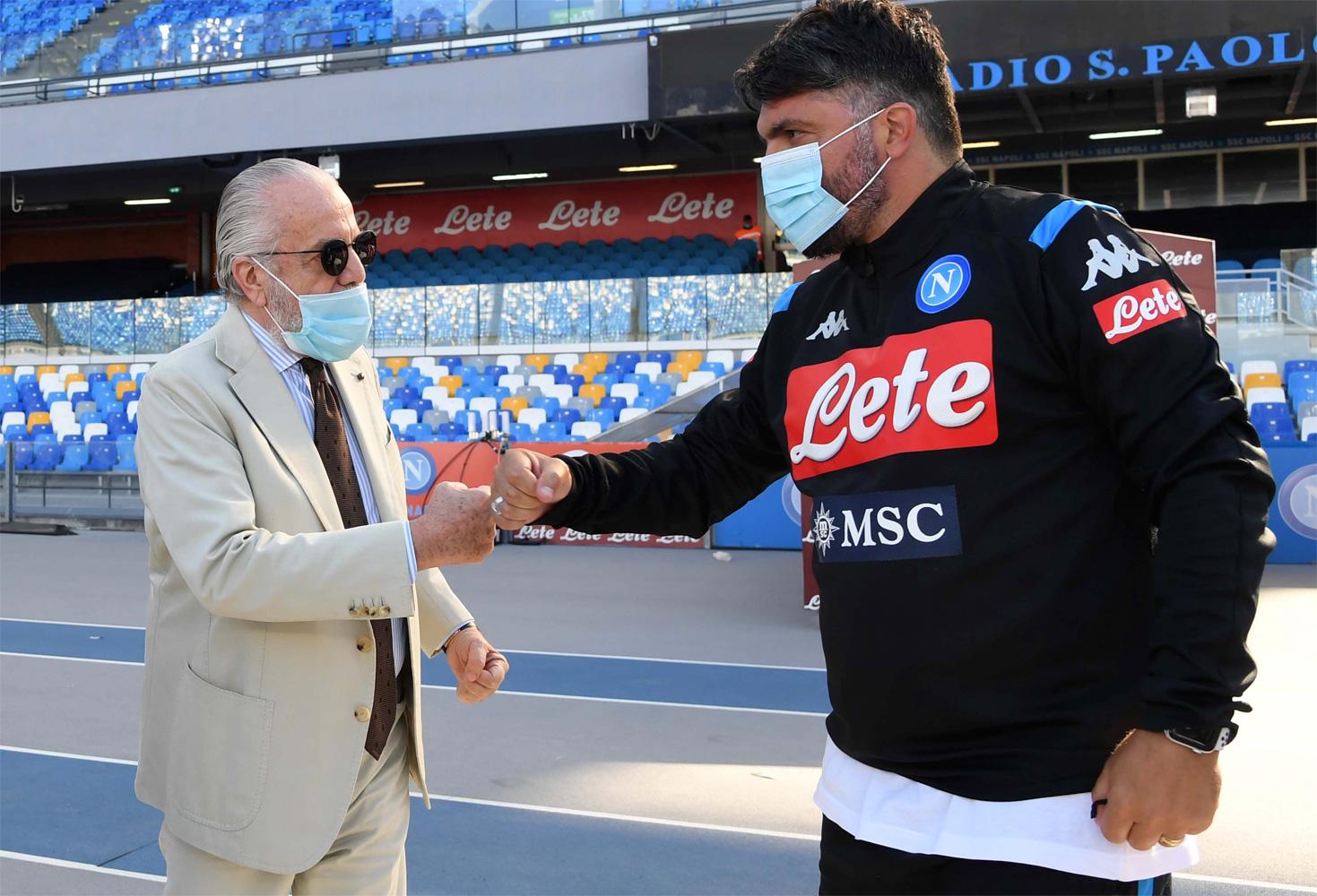 Aurelio De Laurentiis e Rino Gattuso