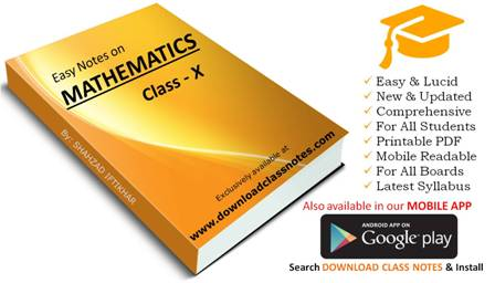 10th Class Mathematics Notes (Unit # 3) for FBISE & Punjab Boards