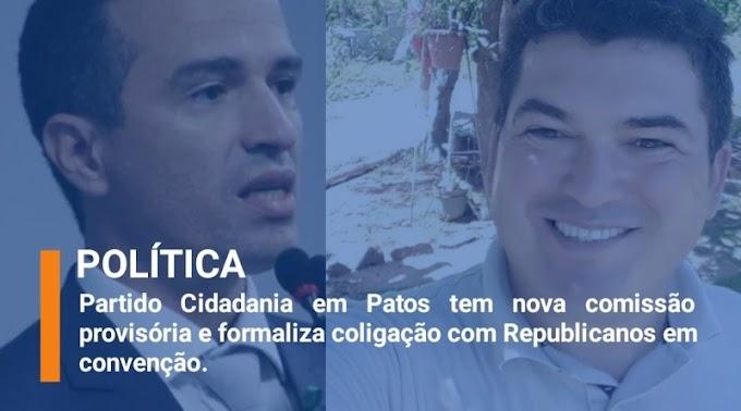 Cidadania em Patos formaliza coligação ao Republicanos em convenção e ex-tesoureiro afirma que apoio ocorreu de forma ilegal. Ouça;