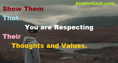 Show Respect Thoughts and Values