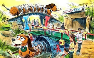 Concept Art of the Slinky Dog Roller Coaster