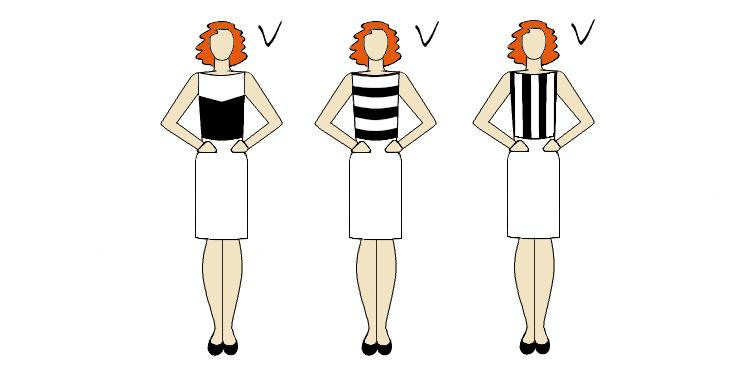 znaczenie wzorów dla podkreślenia talii