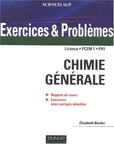 [PDF] Télécharger Livre Gratuit: Chimie générale : Rappels de cours, exercices avec corrigés détaillés