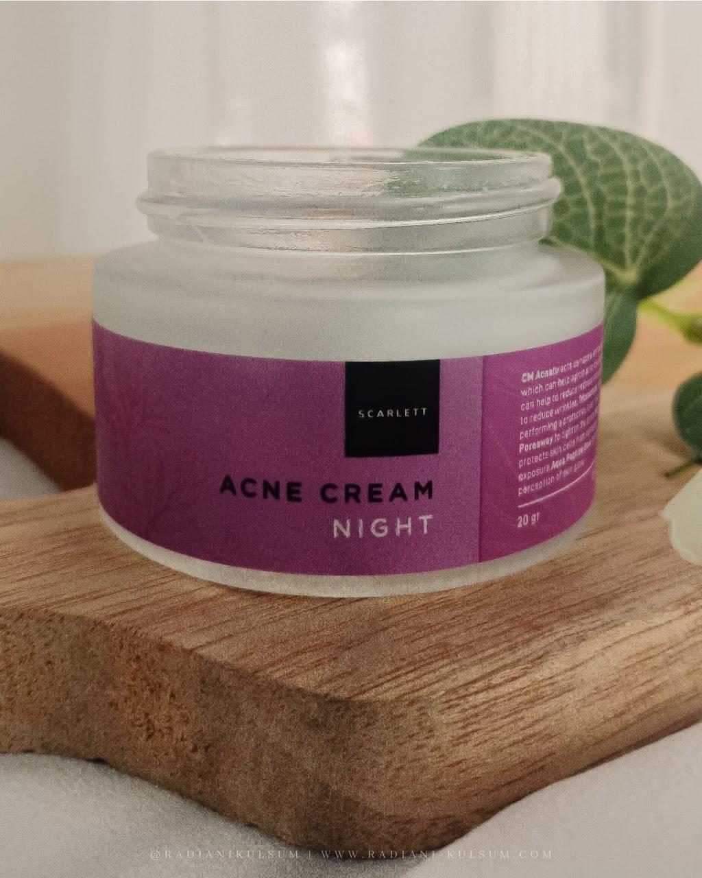 scarlett whitening - acne cream night