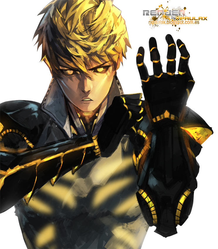 One Punch Man .- Genos Render