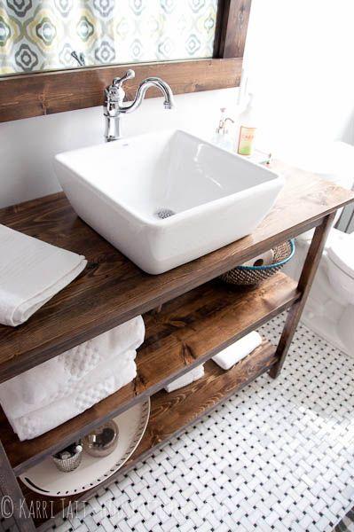 Banheiros com bancadas em madeira decora o e inven o for Mold in bathroom cabinet
