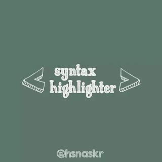 Hasan askari: Trik Simpel Memasang Syntax Highlighter di Blogger