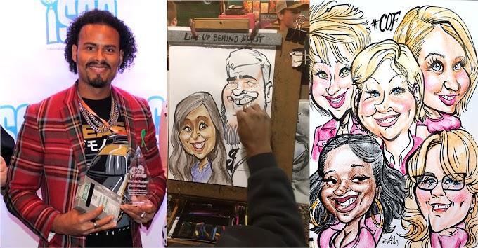 VIDEO - Dominicano es el caricaturista más rápido del mundo al ganar competencia intercontinental en Tennessee