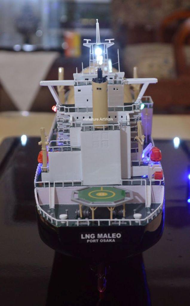 desain sketsa miniatur kapal maleo lng tanker ship terbaik