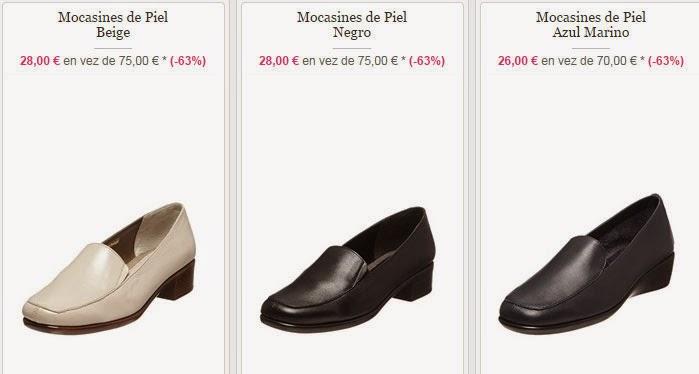 Tres modelos de mocasines para mujer desde sólo 26 euros.