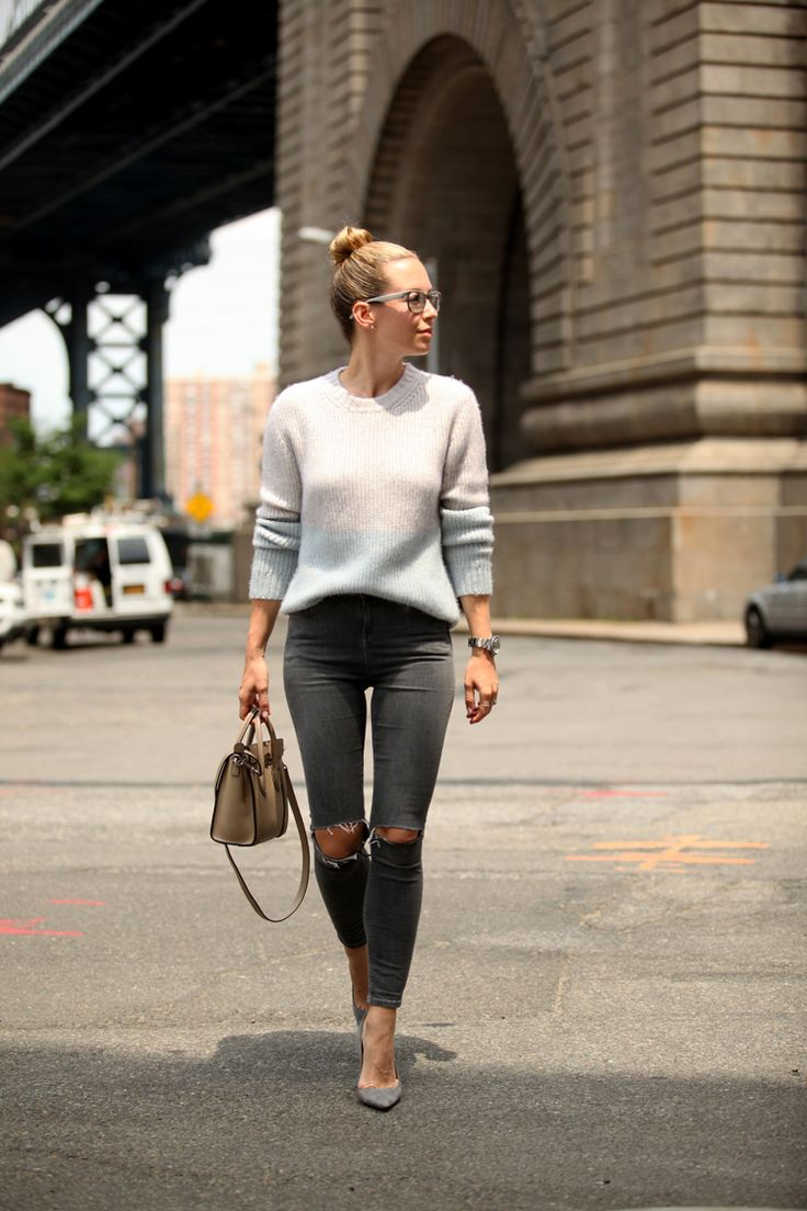 Brooklyn Blonde - Shades of Grey Fall Outfit