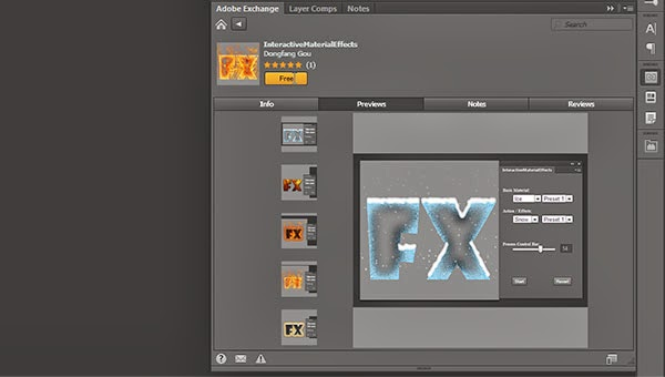 Download Free Photoshop Extension InteractiveMaterialEffects